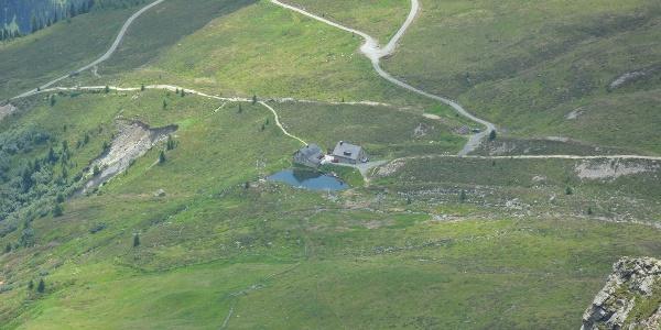 Blick auf die Friedrichshafener Hütte