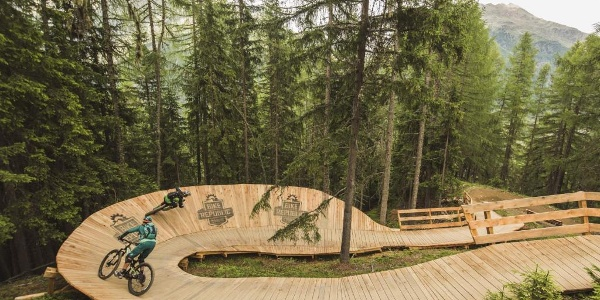 Holzsteilwand