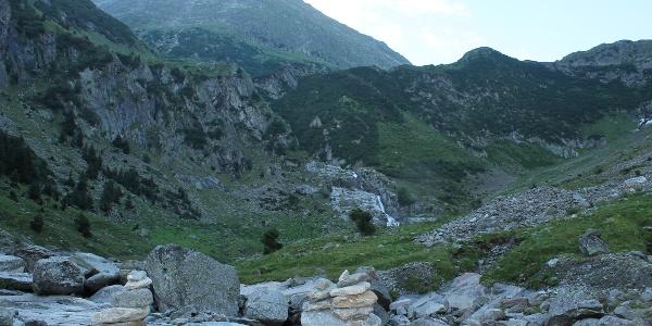 Morgens im Val Sumvitg -Vor dem steilen Aufstieg