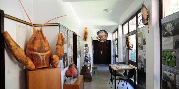 A látogatóközpont időszaki kiállításoknak is helyet ad