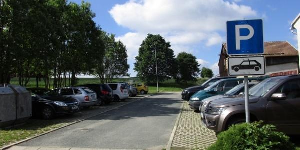 Werda Parkplatz gegenüber Fleischerei Wetzstein