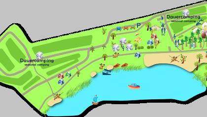 """Lageplan vom Campingplatz """"Am Niegripper See"""""""