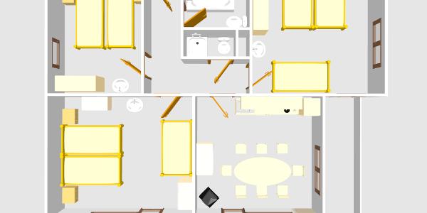 Wohnung1 Ansicht von oben