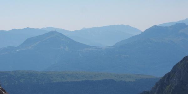 Mount Bondone from refugee Pedrotti