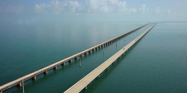 Seven Miles Brige in Richtung Marathon, Florida