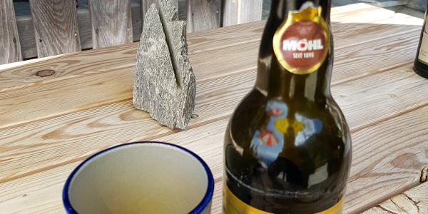 ... das erfrischt - Saft (Cider=Apfelschaumwein) aus der Region auf der Gafadurahütte