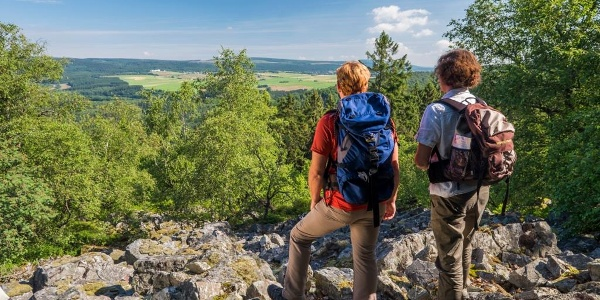 Wanderer auf dem Saar-Hunsrück-Steig