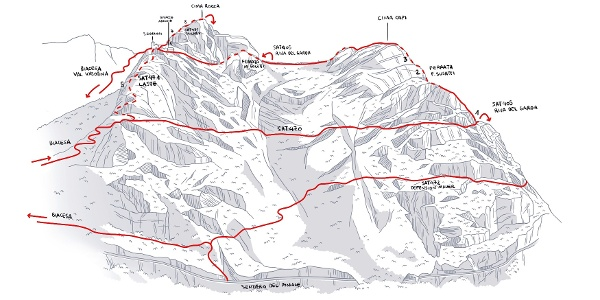 The route to Cima Rocca