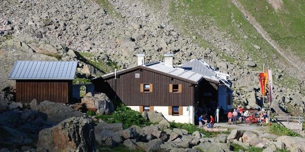 Morgenstimmung an der Tübinger Hütte