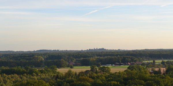 Die schöne Aussicht vom Aussichtsturm Isterberg
