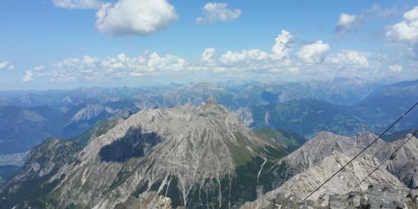 Blick vom Schesaplana Gipfel nach Norden