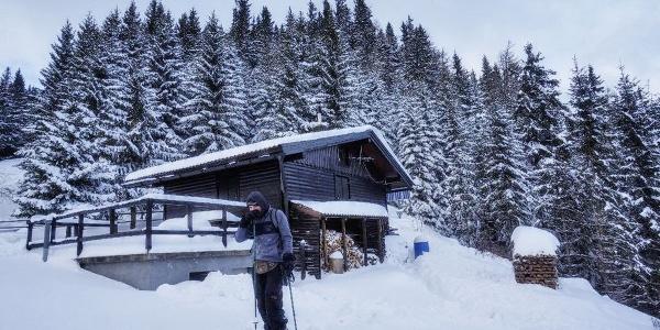 Joe Doppelreiter Hütte im Winter