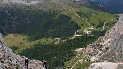 Oberer Teil des Klettersteigs