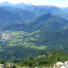 Ausblick vom Gipfel nach reichenhall