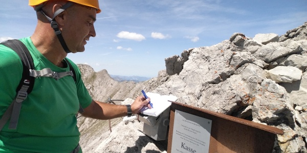 Ausstieg Klettersteig Saulakopf