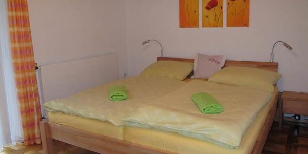 eines von zwei Doppelzimmer