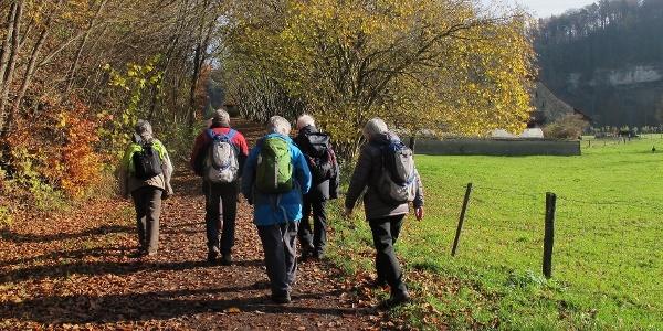 Herbstwanderung zur Abbaye d'Hauterive.
