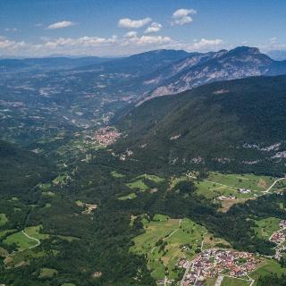 Cavedago, Spormaggiore and view on Val di Non