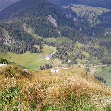 Tutzinger Hütte vom Gipfel aus