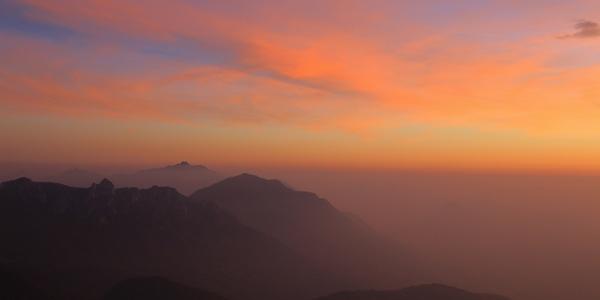 Sonnenuntergang im Val Colla.