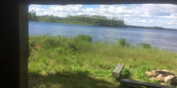 Utsikt från vindskyddet i Viksjö