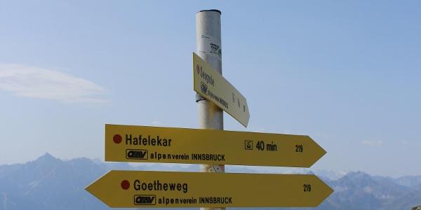 Wir gehen weiter entlang des Goethe Weges