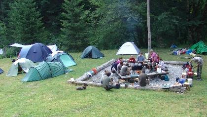 Übernachten in der Waldwildnis am Biwakplatz Steyrsteg, Nationalpark Kalkalpen