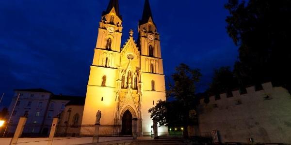 Benediktinerstift Admont bei Nacht