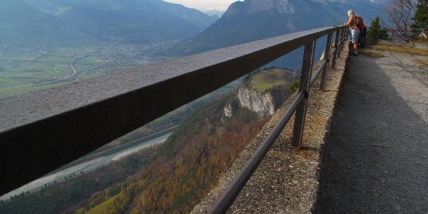 Aussichtsplattform auf dem Regitzer Spitz.