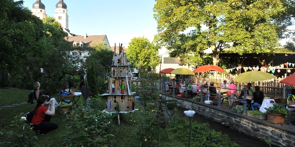 Weberhäuser Plauen mit Blick auf die Johanniskirche