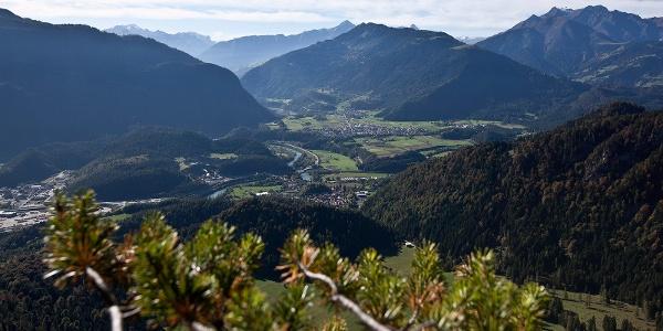 Blick vom Kunkelspass ins Rheintal