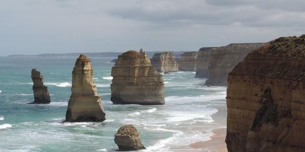 The Twelve Apostles on the Australian coast within the famous Twelve Apostles National Park