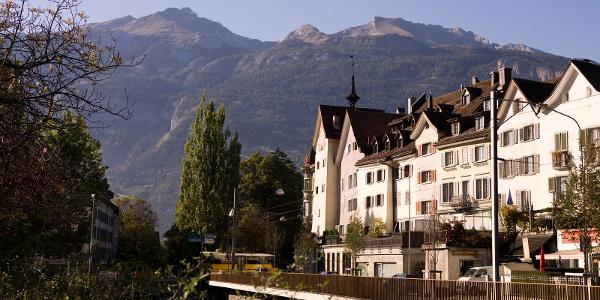 Stadt Chur mit dem prägenden Calanda