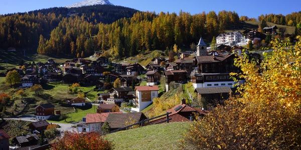 Walserdorf Tschiertschen im Herbst