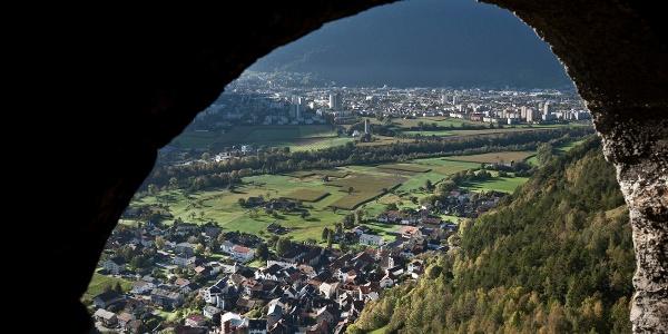 Ausblick von der Burg Lichtenstein auf Haldenstein