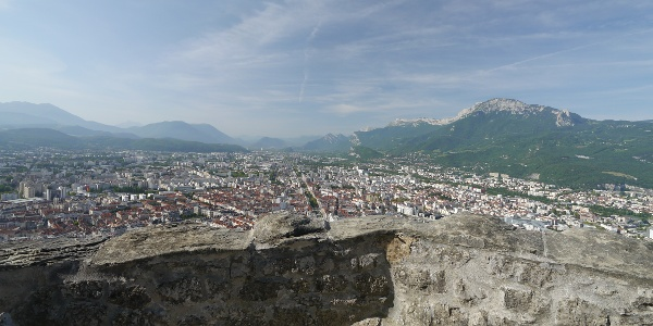 Watching Grenoble from the Bastille