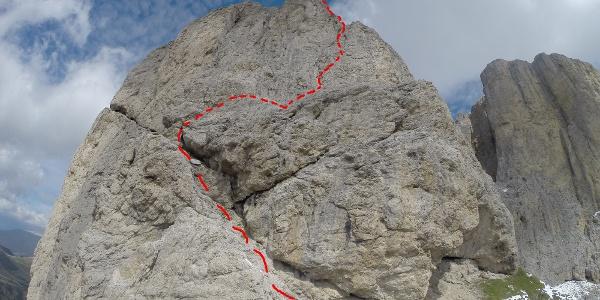 Routenverlauf vom Ersten Sellturm aus