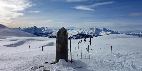 Dreibündenstein im Winter