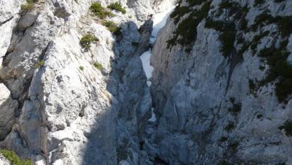 In dieser Schlucht befindet sich der Klettergarten