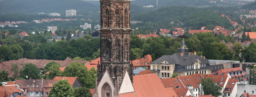 St. Jacobi vom Turm der St. Johannis-Kirche aus gesehen