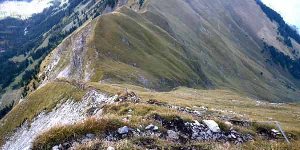 14:54 Der Abstieg vom Augstmatthorn ist grenzwärtig (T4?)