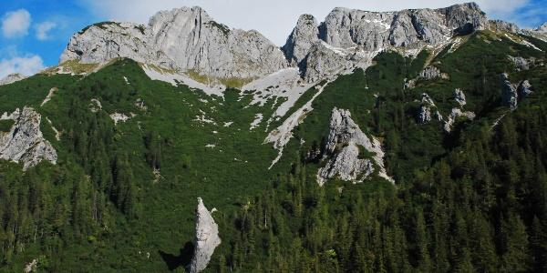 Festlbeilstein und Käfereck über dem Schafgraben