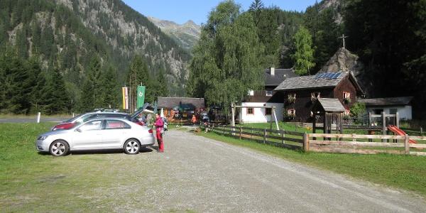 alternativ kann auch bei der Gmünder Hütte geparkt werden