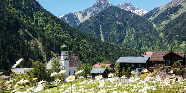 Blick in Richtung Kirche St. Gallenkirch