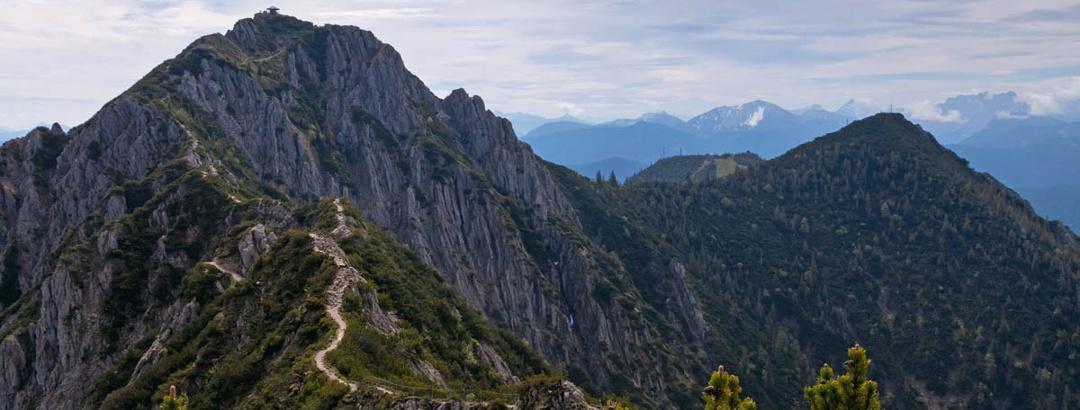 Bergtour - Heimgarten über die Käseralm - Blick vom Heimgarten auf den Herzogstand