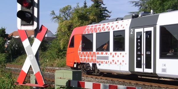 Auf der Fahrt mit der DB nach Grünstadt