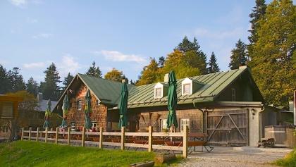 Berghütte Schareben im Herbst