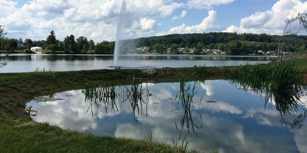Fontaine im Vorbecken