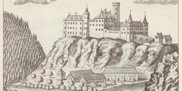 Archivzeichnung Burgruine Krems