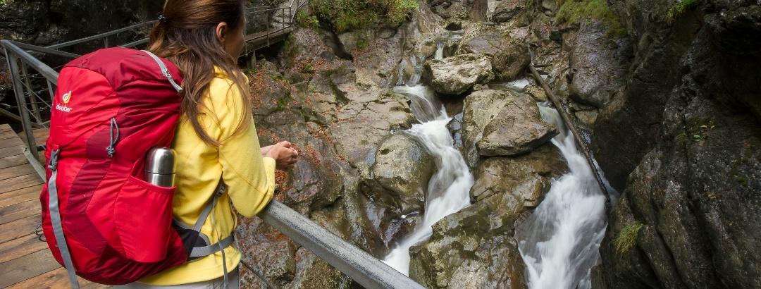 """Hiking through the gorge """"Starzlachklamm"""""""